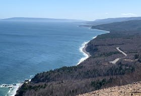 One of the many amazing vistas that can be experienced on a drive around Cape Breton's world famous Cabot Trail. This is what travellers see when they stop at a new viewpoint on the cliffside of the windy road up Cape Smokey. DAVID JALA/CAPE BRETON POST