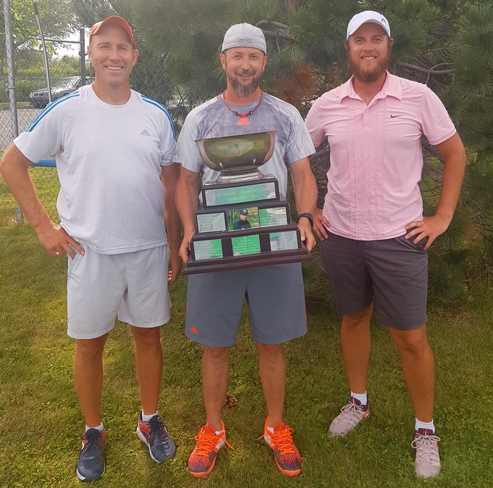 Chris Matthews of Dartmouth, left, won his fifth Peter Durdle Memorial Open in 2020. This year's tournament is scheduled for late July in New Waterford. CONTRIBUTED - Contributed