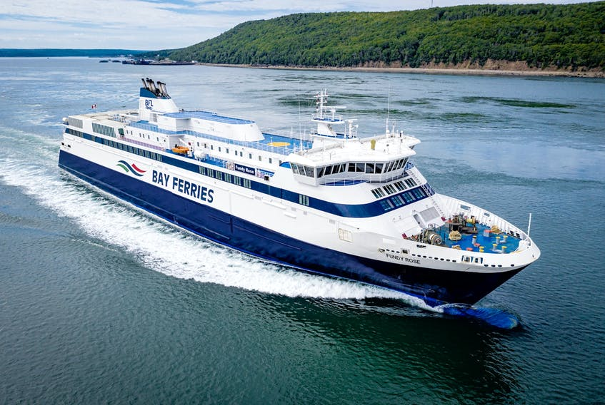 The Fundy Rose ferry that sails between Digby, N.S. and Saint John, N.B. has seen the impacts of the COVID pandemic but its operator also knows this and its other ferry operations will play an important role in tourism recovery. PHOTO FROM BAY FERRIES