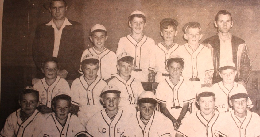 Members of the 1957 Gannon Road Aces baseball team from the Northside. From left, front row, Vince Cordero, Harold Parks, Steven Barron, Frankie White, Bill Ivey and Danny Powers; middle row, Kippy Barron, Dougie Tobin, Ronnie Tobin, Bird Young and Edward Nelson; back row, Earl Nelson, Cyril Tobin, Joey Boutilier, Robert Boutilier, Bill Tanner and Russell Tobin. Contributed - Contributed