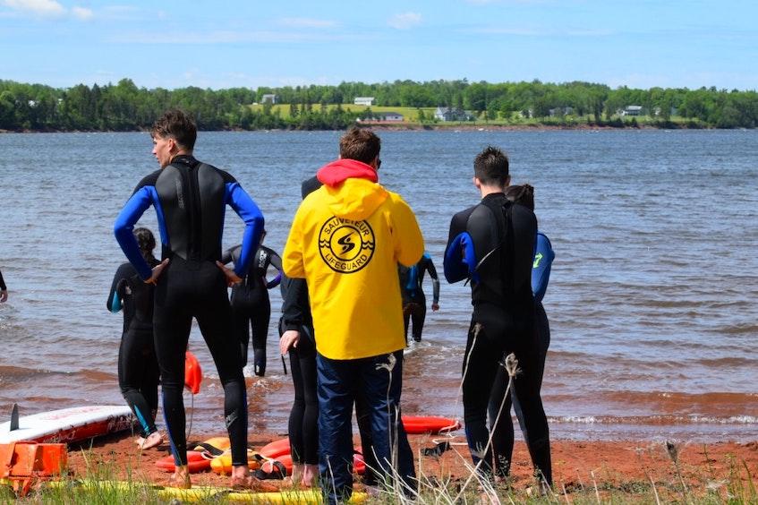 Members of P.E.I.'s lifeguard team do some training. - Contributed