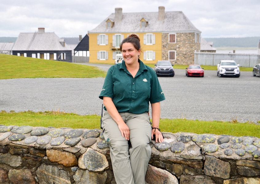 Red Seal plumber Jenna Baldwin says her work at the Fortress of Louisbourg mostly involves issues associated with modern day infrastructure. DAVID JALA/CAPE BRETON POST - David Jala