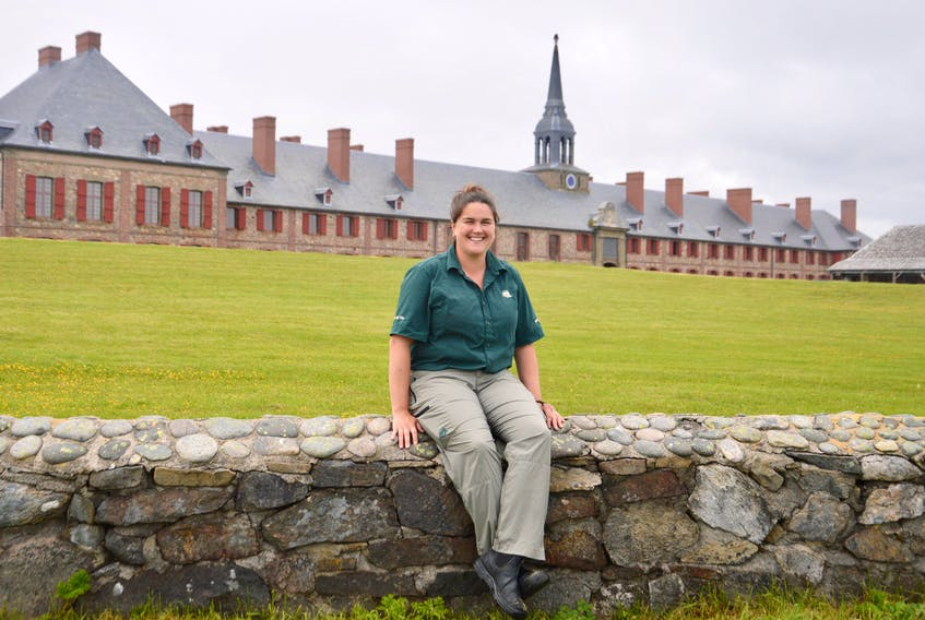 Jenna Baldwin works as a plumber at the Fortress of Louisbourg National Historic Site. Her father Danny held down the same position for some 35 years. DAVID JALA/CAPE BRETON POST