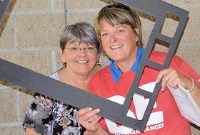 This year's ambassador Carolyn MacKay and Cindy MacKinnon at a previous Pictou County Relay for Life event.