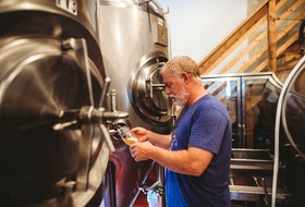 Karl Whiffen is head brewer and owner of Uncle Leo's.