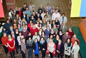 In a pre-COVID-19 pandemic photo, CBU's first Cohort of Graduates of the Learning the L'nu Way Experience gathered in the Great Hall of the Student, Culture and Heritage Building in February 2020. The Learning the L'nu Way Experience recieved national recogntion from the