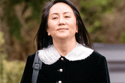 Meng Wanzhou, chief financial officer of Huawei, leaves her home for her trip to B.C. Supreme Court for her extradition hearing, in Vancouver, April 1, 2021.