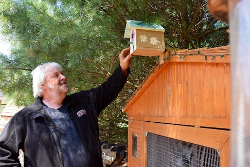 North River resident Mark Lindsay has made over 400 birdhouse kits to distribute to children as a way to ease the pain of losing his daughter Chantelle and brings smiles to the faces of others. HARRY SULLIVAN - TRURO NEWS