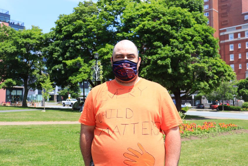 Trevor Labrador of Acadia First Nation is a co-organizer of a memorial being held at the Peace and Friendship Park in Halifax on Thursday, July 1, 2021. Labrador attended the Shubenacadie Indian Residential School and says the recent discoveries of burial sites on the site of former Indian residential school sites in Canada hit home for him.