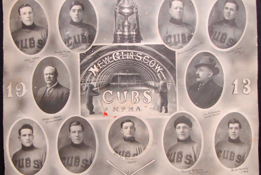 Members of the New Glasgow Cubs in 1913. Contributed • Nova Scotia Sport Hall of Fame
