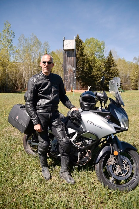 Ontario-based motorcycle rider Charles Snell. Contributed/Charles Snell - POSTMEDIA