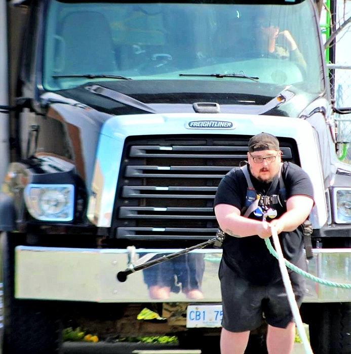 """You could caption this """"Big Riggs pulling a big rig."""" — Facebook/Kyle Riggs"""