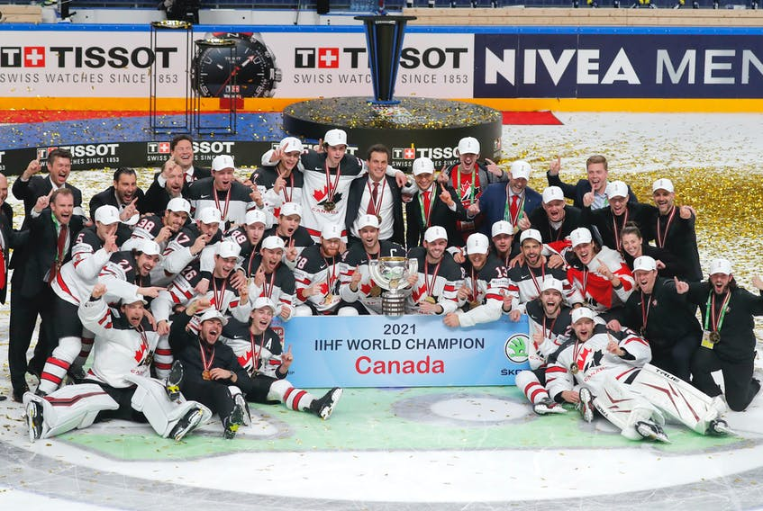 Team Canada won the International Ice Hockey Federation world hockey championships Sunday in Latvia. - Vasily Fedosenko -