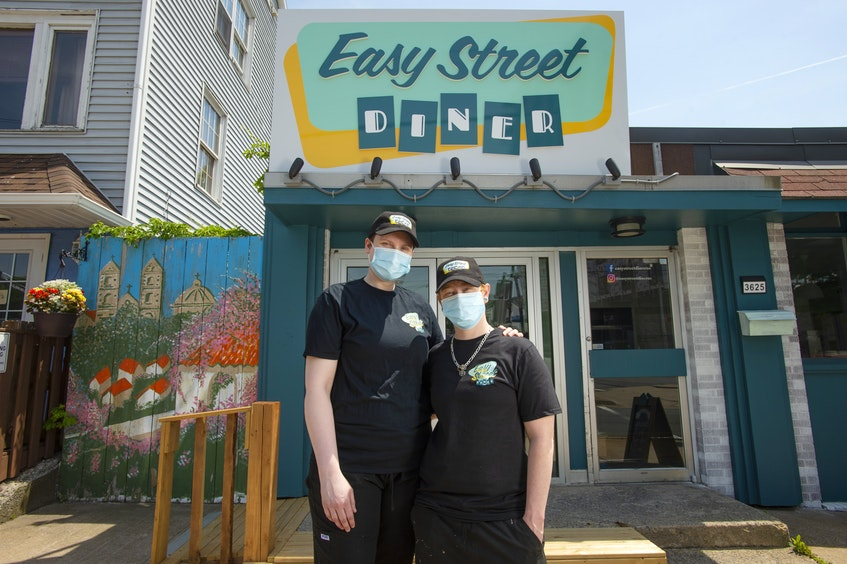 Easy Street Diner co-owners Kelly-Jo Beck and Lalanya Kaizer are opening their new Dutch Village Rd. restaurant for takeout this Friday. - Ryan Taplin
