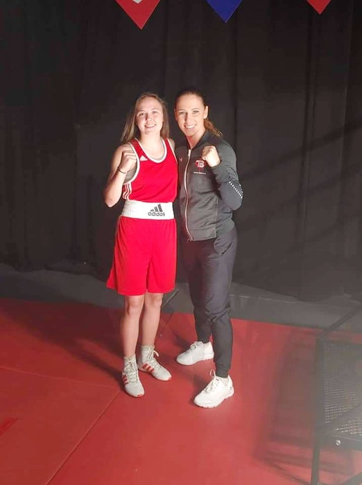 Teen boxer Sierra Eshouzade was able to meet and be mentored by champion Canadian boxer Mandy Bujold while filming the TVO Kids series All-Round Champion. - Contributed