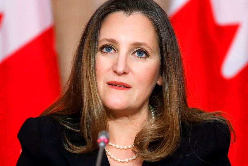Finance Minister Chrystia Freeland Freeland will be looking at recommendations from an advisory committee on the policy known as open banking, which allows consumer to control their financial data.