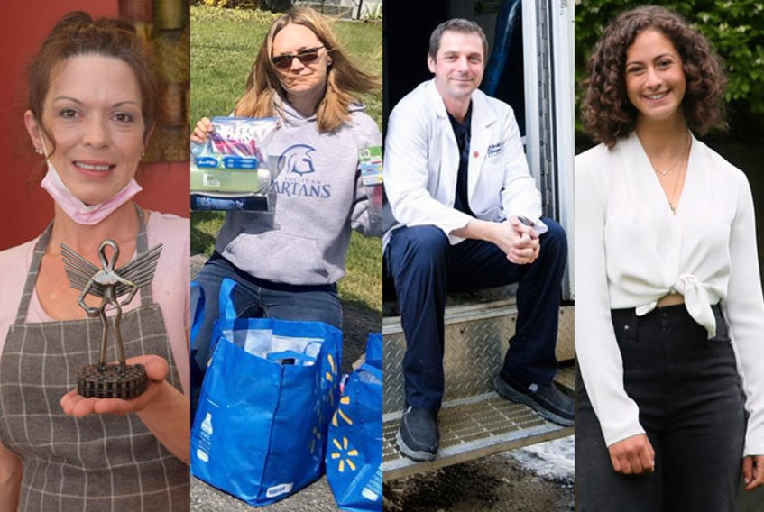 , Crystal Blair, Lisa Bond, Michael Hatt and Rebeccah Raphael are among the 20 Nova Scotians receiving the Dr. Robert Strang Community Hero Award. - Contributed and staff photos