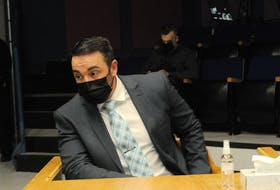 RNC Const. Doug Snelgrove in court during a previous appearance. Telegram file photo