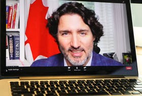 Prime Minister Justin Trudeau spoke via Zoom as keynote speaker at the St. John's Board of Trade Outlook 2021 conference that began on Monday. Trudeau touched on issues such as Muskrat Falls rate mitigation, tourism, immigration and, of course, the business sector. Glen Whiffen/The Telegram