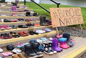 The shoes gathered in Millbrook First Nation, and many other places around Canada and the globe, are meant to guide the spirits of the Indigenous children who lost their lives in residential schools home.