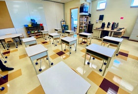 A classroom at Meadowfields Community School in Yarmouth. TINA COMEAU PHOTO