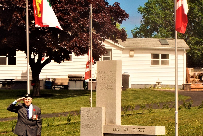 Simon Lemay takes part in a private D-Day observation, saluting all past and present veterans who dedicated their lives to serve and protect Canada.