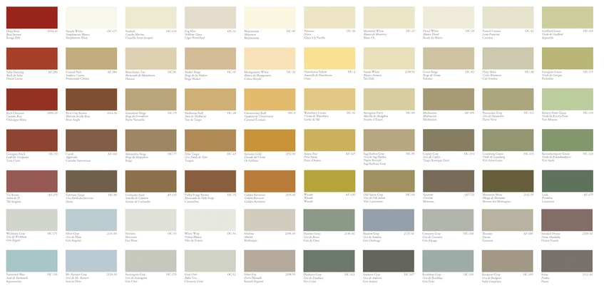 Ready to paint your vinyl siding? Here are some of Benjamin Moore's vinyl-safe colours. - Photo Contributed.