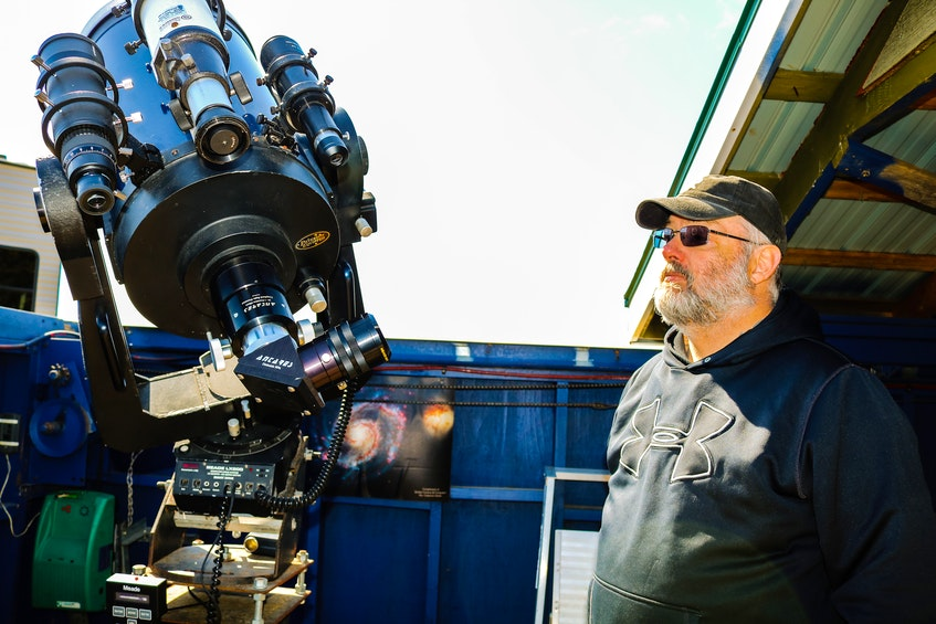 Astronomer Stan Williams runs the Two Rivers Observatory at Two Rivers Wildlife Park in Cape Breton. JESSICA SMITH/CAPE BRETON POST