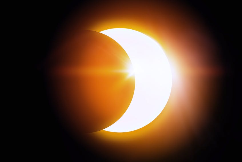 The annular solar eclipse will occur when the moon is at its farthest point from the Earth, so it can't block out the entire sun, according to SaltWire Network chief meteorologist Cindy Day. STOCK IMAGE