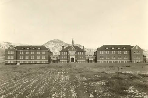 The Kamloops Indian Residential School, circa 1930.