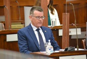 """P.E.I. auditor general Darren Noonan speaks before a legislative standing committee on Tuesday. A recent report from Noonan's office found the Department of Education lacks the ability to """"effectively manage"""" a program for international K-12 students."""
