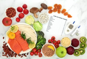 Pairing low glycemic foods with foods that have a higher rating is one way people with diabetes can slow the absorption of the sugars into the blood stream and still enjoy a wide variety of foods.
