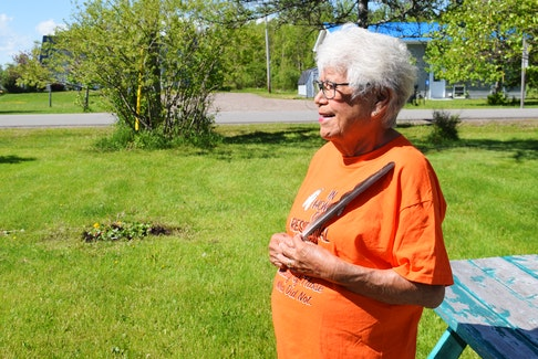 Jane Abram, 78, is an elder in Millbrook and a survivor of the Shubenacadie Indian Residential School. She said she feels good after telling her story.
