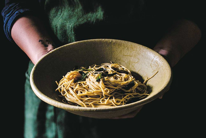 Scallion oil noodles from My Shanghai.