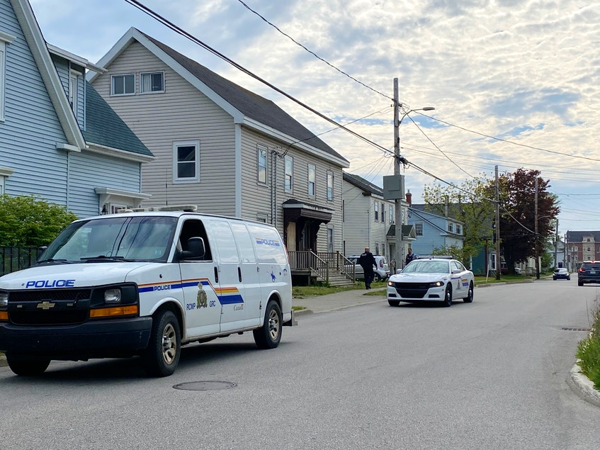 There was a heavy RCMP presence in downtown Yarmouth after a report of an armed robbery on Main Street in Yarmouth on June 8. CARLA ALLEN PHOTO - Carla Allen
