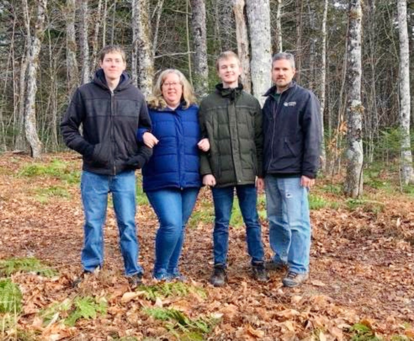 The McCormick family of Rodney, N.S., including (from left) Curtis, Linda, Connor and Craig, is raising $25,000 for Ronald McDonald House in Halifax in memory of Curtis, who died in April after fighting cancer. - Contributed