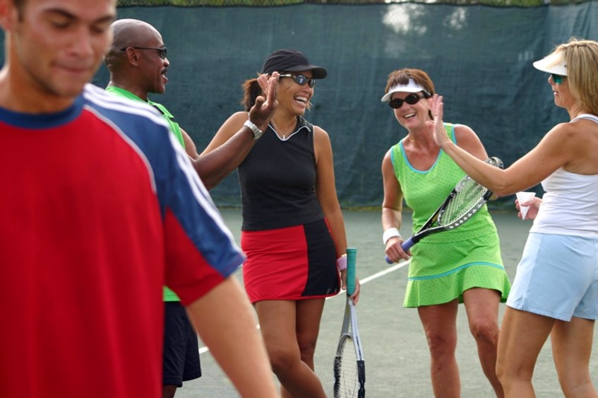Health benefits from playing tennis include living longer, improved fitness, reduced stress and increased brain power. - Photo Contributed.