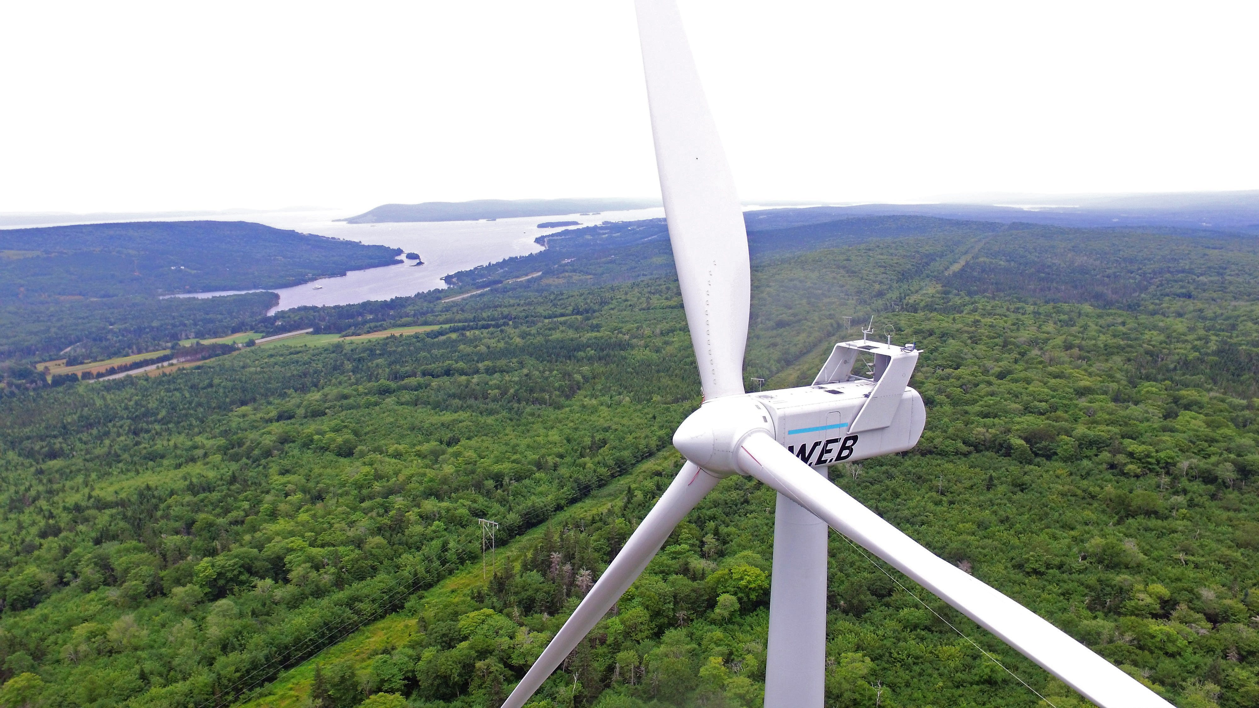 SWEB Development operates wind and solar projects in the US, New Brunswick and Nova Scotia, similar to the single turbine project in Baddeck.