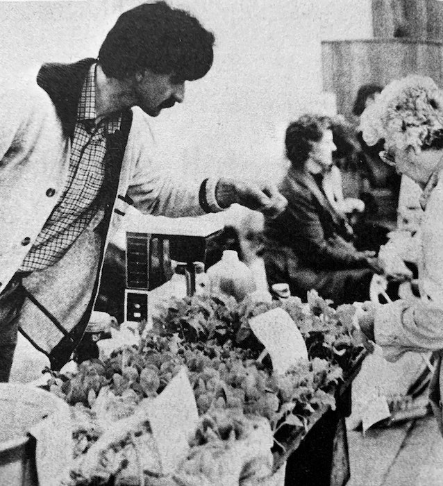 Norbert Kungl, of Bramber, helped organize Windsor's new farmers' market in May 1986. The first two markets were deemed a huge success. - File Photo