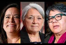 From left, Jody Wilson-Raybould, Mary Simon, RoseAnne Archibald