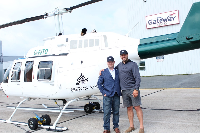 Breton Air was founded by logistics expert Parker Horton, left, and former air force pilot Matt Wallace. The Sydney-based aviation company is now offering charter flights to Sable Island. CAPE BRETON POST FILE PHOTO - David Jala