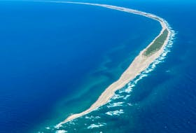 Sable Island is located 134 nautical miles south of Sydney. The crescent-shaped, 43-km long sandbar is located in the North Atlantic Ocean. CONTRIBUTED