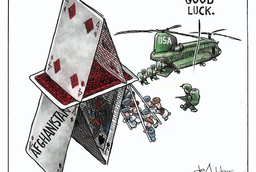 Michael de Adder's cartoon for July 12, 2021.