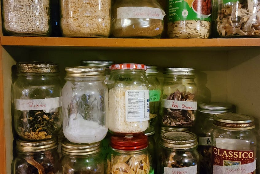 Monica Williams, from Torbrook, N.S., is a member of the Annapolis Valley Frugal Moms Society (AVFMS) and runs a subgroup focused on canning and preserving foods, including dehydrating food. The dehydrated items can be stored and used as needed in items like soups.