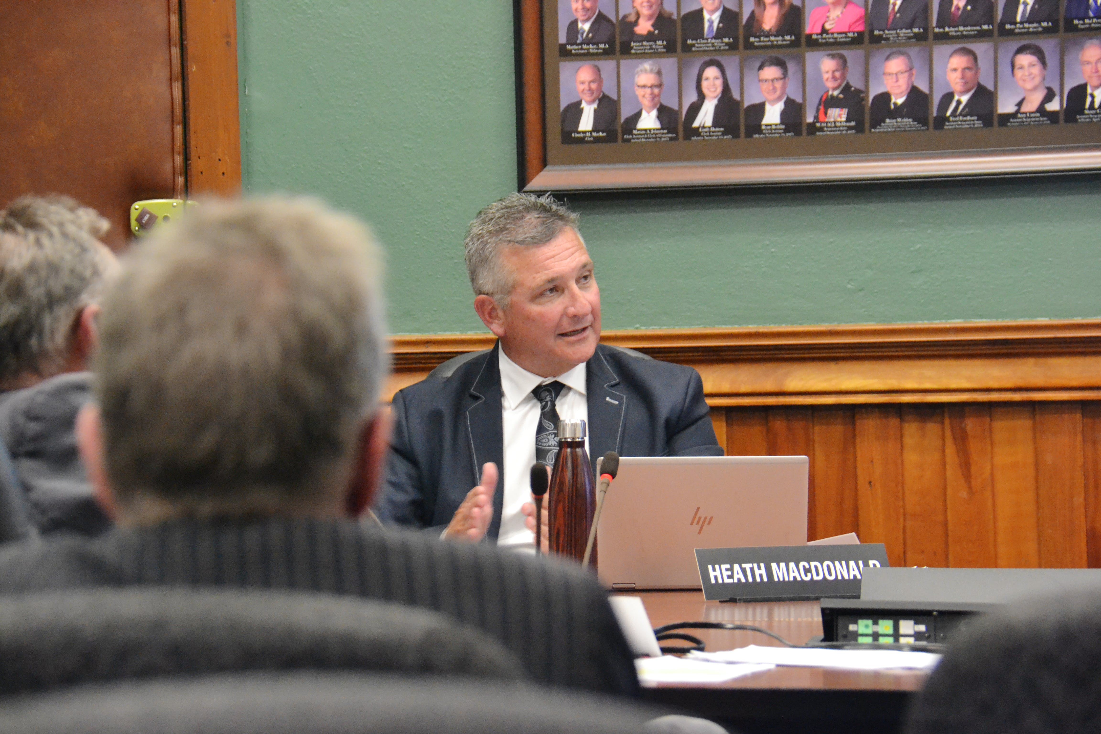 Liberal education critic Heath MacDonald, shown in a standing committee last September, says the province needs more data on how inequity has affected learning outcomes in P.E.I.