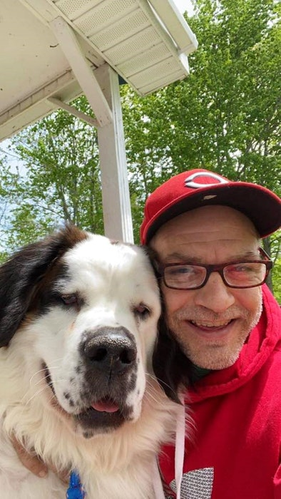 Chuck Keddy with his dog, Dottie. - Contributed