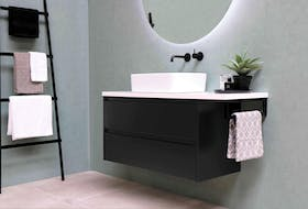 Floating vanities visually open up a bathroom space and have a modern look. - Sanibel BV.
