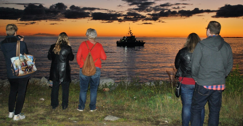 To mark the 50th anniversary of the 2017 Shag Harbor UFO sighting, a reenactment was held during the UFO festival involving the Canadian Coast Guard lifeboat Clark's Harbor and the RCMP.  - Tina Comeau