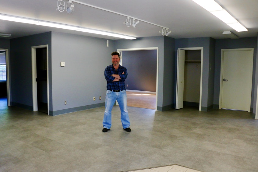 With 1,700 square feet on the main floor of the former Hantsport town hall building, Glenn Deering is excited to get to work on expanding his business. - Carole Morris-Underhill