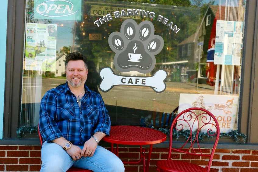 The minimal restaurant seating, both inside and outside, at the Barking Bean Café will be a thing of the past once Glenn Deering renovates 20 Main St. and relocates his business. - Carole Morris-Underhill